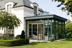 Bespoke Orangeries Designed and Installed by Fine Design UK, and glass rooms, open-canopies that can be glazed Atrium, Conservatory Design, Orangery Conservatory, Orangery Extension, Gazebo, Modern Exterior House Designs, Backyard Pavilion, Craftsman Exterior, Edwardian House