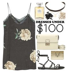 """""""Under $100: Summer Dresses"""" by nvoyce on Polyvore featuring MANGO, Valentino, Rebecca Minkoff, Charlotte Olympia, Jennifer Zeuner, Chanel, Topshop and under100"""