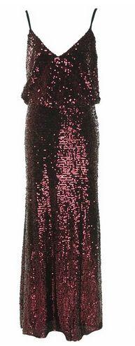 vestido Morado en lentejuelas