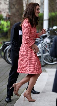 Catherine, Duchess of Cambridge attends the launch of maternal mental health films ahead of mother's day at Royal College of Obstetricians and Gynaecologists on March 23, 2017 in London.