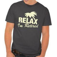 Retirement t shirt in pastel colors