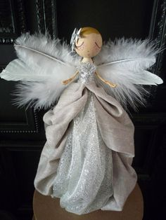 Christmas Tree Angel - Angel Tree Topper by MilkTeabyBthanari on Etsy https://www.etsy.com/listing/210376328/christmas-tree-angel-angel-tree-topper
