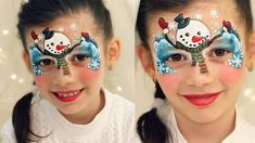 Cute Snowman ⛄ — Christmas Face Painting & Makeup for Kids Spider Man Face Paint, Cool Face Paint, Mime Face Paint, Face Paint Makeup, Reindeer Face Paint, Snowman Faces, Cute Snowman, Face Painting Tutorials, Face Painting Designs