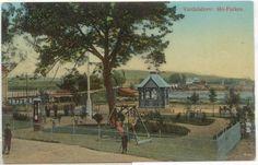 Nord-Trøndelag fylke Verdal kommune Verdalsøra -Valdresören Mo-Parken tidlig 1900-tall fargekort utg  A. O. M. I.