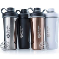 Blender Bottle Radian 26 oz. Stainless Steel Shaker Bottle with Loop Top (Copper), Brown