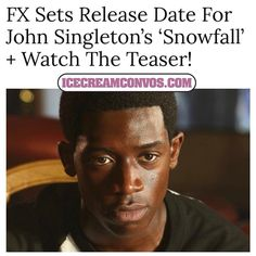 Get the scoop on the show and watch the teaser trailers @ IceCreamConvos.com or the ICC app! Link to site in bio.  #FX #Snowfall #JohnSingleton #TVScoop #IceCreamConvos