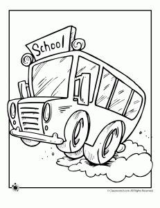 coloring pages : School Bus Coloring Page School Bus' coloring pagess | 300x231