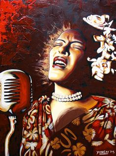 Black Women Art!, Billie Holiday by Kariem Yungai