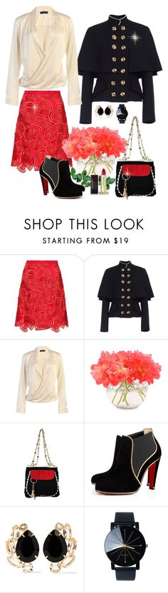 """""""Untitled #560"""" by susans-sg ❤ liked on Polyvore featuring Christopher Kane, Burberry, Kate Spade, Moschino Cheap & Chic, Bounkit and Kevyn Aucoin"""