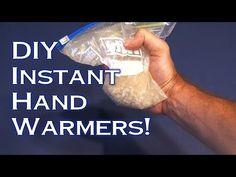 DIY Instant Hand Warmers - Video tutorial