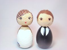 Hey, I found this really awesome Etsy listing at https://www.etsy.com/listing/109021206/kokeshi-doll-wedding-cake-toppers-custom
