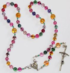 Wearable Catholic Rosary Tourmaline & Sterling Silver - 4 different uses - SPECIAL Rosary Necklace, Rosary Beads, Beaded Necklace, Prayer Beads, Tourmaline Gemstone, Gemstone Beads, Rosary Catholic, Holy Rosary, Religious Jewelry
