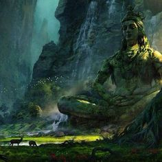 The Jungle Book Concept Art by Vance Kovacs The Jungle Book, Fantasy Places, Fantasy World, Fantasy Art, Fantasy Landscape, Landscape Art, 1366x768 Wallpaper Hd, Dungeons E Dragons, Lord Shiva Hd Wallpaper