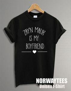 Zayn Malik Is My Boyfriend Text Unisex Shirt Fashion by Norwaytees