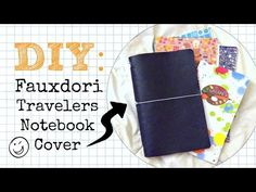 DIY Travelers Notebook Fauxdori Cover - No Sew \\ Planner Peace Tutorial. Travelers Notebook, Craft Tutorials, Bible Verses, Journaling, Arts And Crafts, Diy, Crafty, How To Plan, Bullet