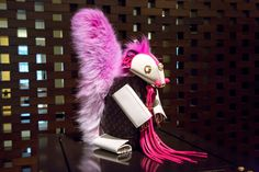 With a big, bright bushy tail, this purple Louis Vuitton squirrel by artist Billie Achilleos is one of a kind. ©Rae Huo