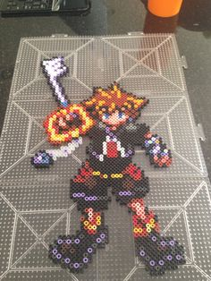 Sora from kingdom hearts (made by julia4reals) #perler #sora
