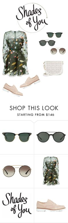 """Saya - Shades of You: Sunglass Hut Contest Entry"" by kentigerna on Polyvore featuring moda, Ray-Ban, Giorgio Armani, Prada, Valentino, Dune Black, Under One Sky e shadesofyou"