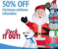 50% Off Christmas inflatables **TODAY ONLY**  ~Kmart~ - http://www.couponoutlaws.com/50-off-christmas-inflatables-today-only-kmart/