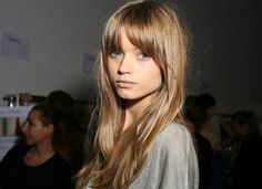 good sloping bangs with long hair