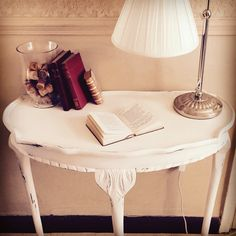 Telephone table refurbished in shabby chic style...