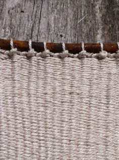 Alice Fox tapestry weave with nail detail