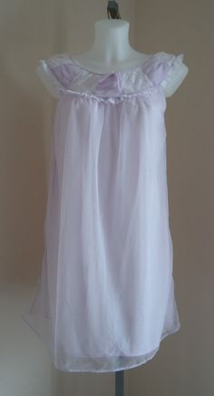 Vintage 1960s Dore Lingerie Lavender Chiffon Short Nightgown on Etsy, $32.97 CAD