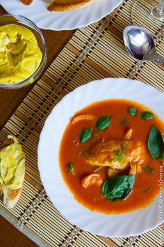 Томатный суп с рыбой и фенхелем | Кулинарные заметки Алексея Онегина