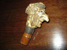 Superb antique walking stick handle.