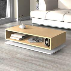 Mesa Ratona Rectangular Con Base - Diseño Moderno Oferta!!!! - Ciudad Muebles