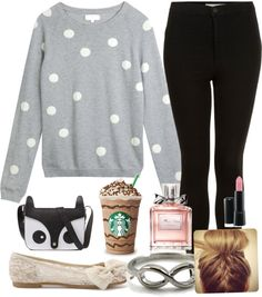"""rainy day or lazy day outfit"" by amber-abeita ❤ liked on Polyvore"