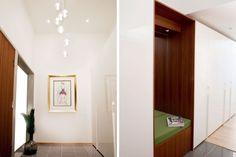 Poliform Senzafine with custom teak niche Wardrobe Design, Wardrobes, Lighting Design, Teak, Furniture, Home Decor, Light Design, Closets, Decoration Home