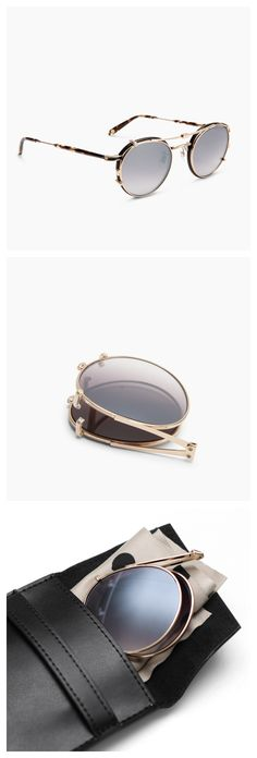 WANT Les Essentiels x @garrettleight Wilson frames and foldable sun clip