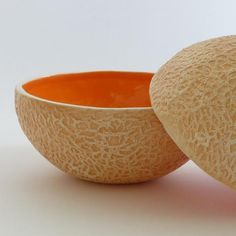 Cantaloupe bowl - so cute for the kitchen