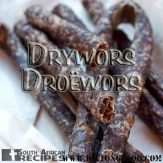 How to make Droë Wors / Dry Wors at home. An easy recipe for this delicious South African snack! Similar to European dried sausage but with African spices. Dried Sausage Recipe, Homemade Sausage Recipes, Homemade Seasonings, Jerky Recipes, Meat Recipes, Mexican Food Recipes, Cooking Recipes, Recipies, Braai Recipes