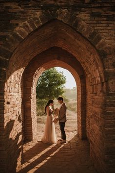 Mike and Hilary's Engagement Shoot in Golden Bagan