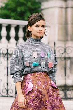 Miroslava Duma, Paris Fashion Week Fall 2012.Streetstyle