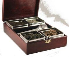 Loose tea caddy box