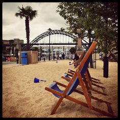 A summertime temporary beach on the quayside in Newcastle Upon Tyne #summer #northeast #gx7