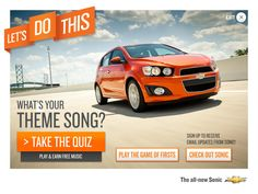 2012 Chevy Sonic Campaign on Behance