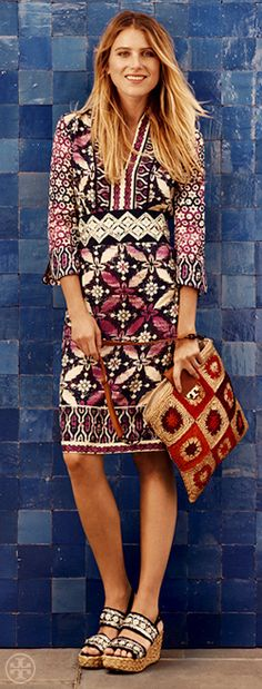 The Bohemian Tunic Dress | Tory Burch Resort