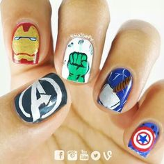 The avengers nails.
