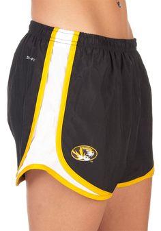 Mizzou Tigers Women's Black Tempo Shorts