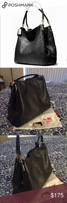 🎀COACH🎀 SMALL PHOEBE SHOULDER BAG AUTHENTIC COACH MADISON PEBBLE LEATHER SMALL PHOEBE SHOULDER BAG. GOLD HARDWARE. INCLUDES CHARM & DUST BAG. LIGHTLY USED IN GREAT CONDITION. INSIDE CLEAN WITH NO STAINS. Coach Bags Shoulder Bags
