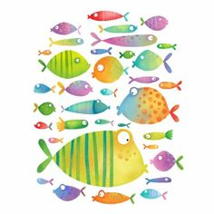 Evelline Andrya Illustration - Cute Fish - would be fun to watercolor