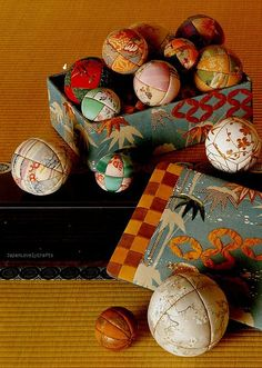 Chirimen Handmade Crafts - Japanese Traditional Craft Book - Crepe Fabric Retro Zakka - Oshie, Hanging Ornament, Temari - Katsumi Yumioka 15 by JapanLovelyCrafts, via Flickr