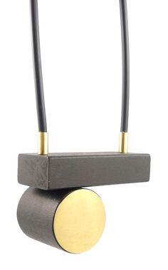 Katja Sobol | necklace | brass | wood | rubber