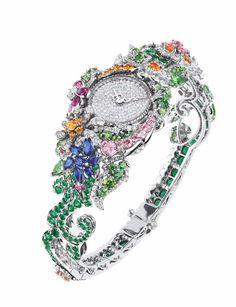 "DIOR. ""Clairière Diamant"" montre #DIOR #DIORÀVersaillesCôtéJardins #2017 #DIORJewellery #HighJewelry #FineJewellery #HauteJoaillerie"