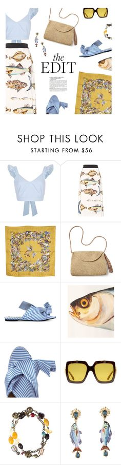 """""""Pattern Mixing"""" by magdafunk ❤ liked on Polyvore featuring River Island, Dolce&Gabbana, Hermès, Mar y Sol, N°21, Gucci and McGinn"""
