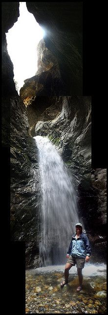 Zapata Falls, Colorado;  Zapata Falls is a secluded 25-foot waterfall sheltered in a rocky crevasse in south-central Colorado's Sangre de Cristo Mountains.  It is amazing.